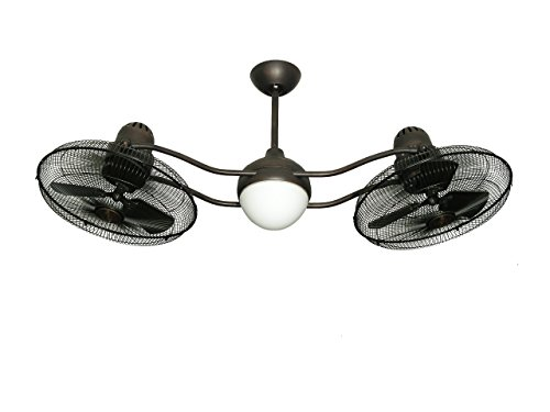 TroposAir Duet Oscillating Dual Ceiling Fan in Oil Rubbed...