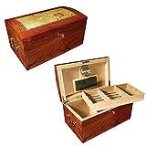 Prestige Import Group - The Broadway Cigar Humidor - Color: Lacquer Burl w/Mappa...