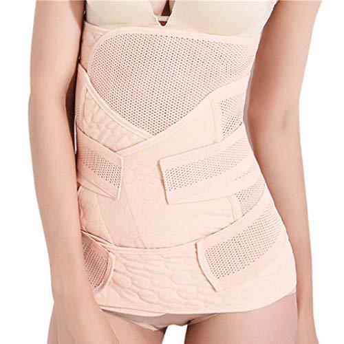 KAZOGU 3-EN-1 Fajas de Cintura Banda de Vientre Transpirable Recuperación posparto Carpeta Abdominal Cintura/Espalda/Abdomen Alivio del Dolor ✅