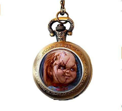 bab Chucky & Tiffany Taschenuhr Halskette