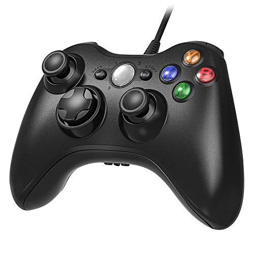 Game Controller per Xbox 360, USB Wired Controller Gamepad, Cablato Game Controller Joypad Joystick, Compatibile per Microsoft Xbox & Slim 360 PC Windows