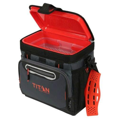 TECNOVOZ 2000546 Kühlbox Titan grau/orange Kapazität: 16 Dosen. Innenfach zusammenklappbar