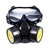 Mialoley Eye Protection Respirator Protection in Paint Sprayer,Woodworking,Dust Protection Reusable (Black, one Size)
