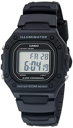 Casio Reloj Digital para Hombres de Cuarzo con Correa en Resina W-218H-1AVCF