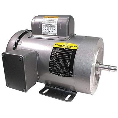 TEFC 115/230V AC Motors 56C 1 HP 1725 RPM Industrial & Scientific ...