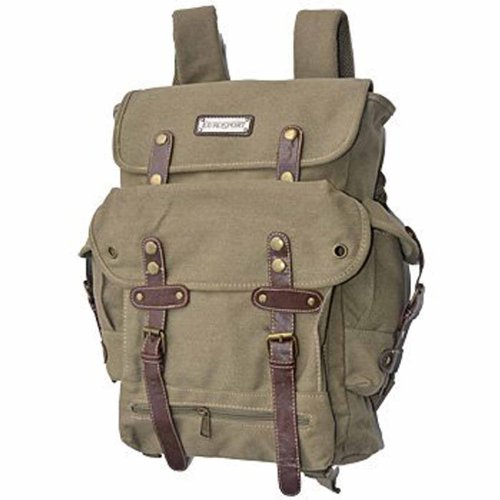 EuroSport WWII Khaki Canvas Backpack Bag