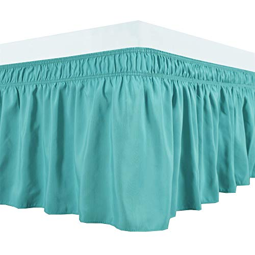 Biscaynebay Wrap Around Bed Skirts Elastic Dust Ruffles,...