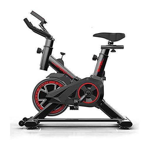 JHSHENGSHI Professionelles Indoor Cycling mit Armstütze, 22 kg Schwungrad, Pulse Belt-kompatiblem Speedbike, Ergometer bis 100 kg