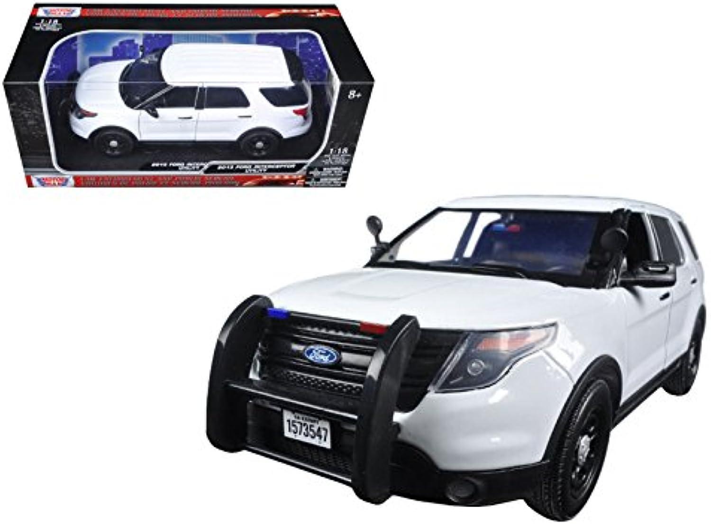 2015 Ford PI Police Utility Interceptor Slick Top White 1 18 Model Car by Motormax