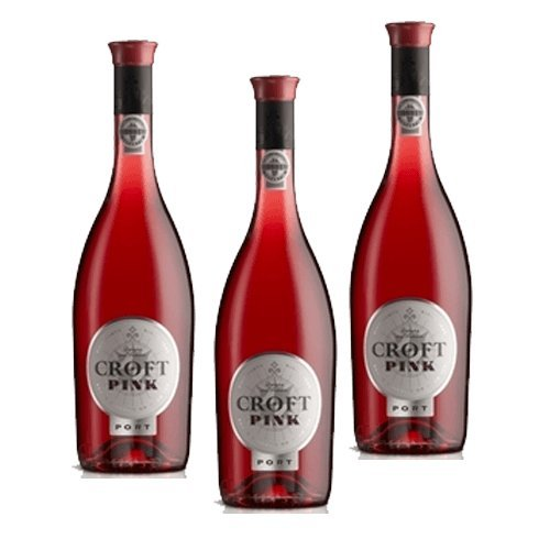 Vino de Oporto Croft Pink - Vino Fortificado - 3 Botellas