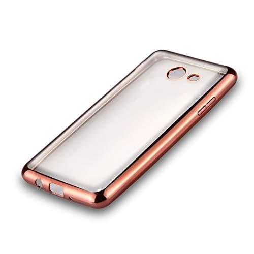 ZAORUN Cubiertas Protectoras de Cellphone Compatible for Samsung Galaxy J5 (2017) (Versión de EE. UU.) Marco de galvanoplastia TPU Suave Funda de protección Trasera (Color : Rose Gold)