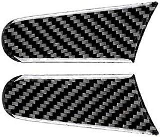 YanYun Staffa in Metallo per Specchietto Retrovisore Blu Auto Lucido Nero Stile F1 da 2 Pezzi Universale