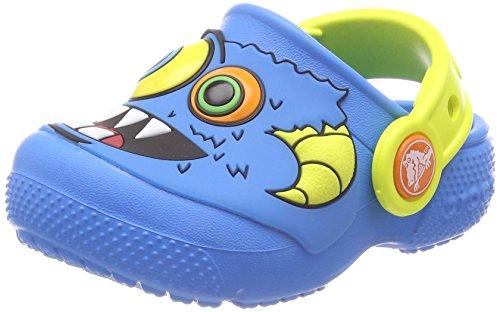 Crocs Crocs Fun Lab Clog Kids, Unisex - Kinder Clogs, Blau (Ocean/tennis Ball Green), 19/20 EU
