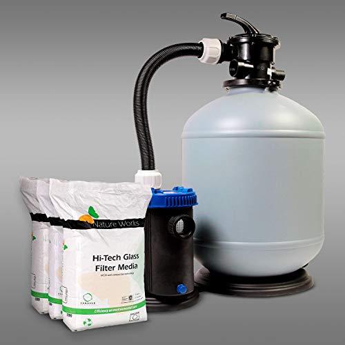 Sandfilteranlage PP Pro Line 470/10 inklusive Filterglas Pool Schwimmbecken Glas Filter Filteranlage Pumpe 10m³/h SHOTT International