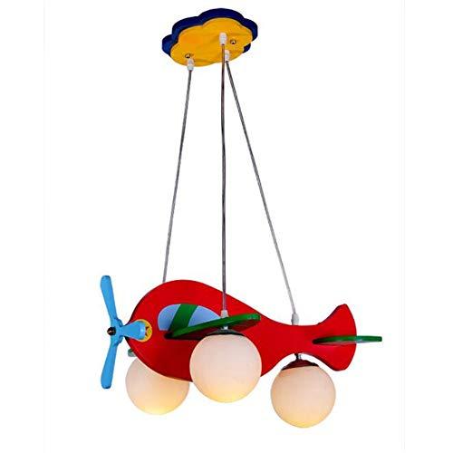 KMY Lámpara De Avión para Niños Habitación Infantil Dormitorio 3D Colorido Helicóptero Lámpara Colgante para Bebé Vivero...
