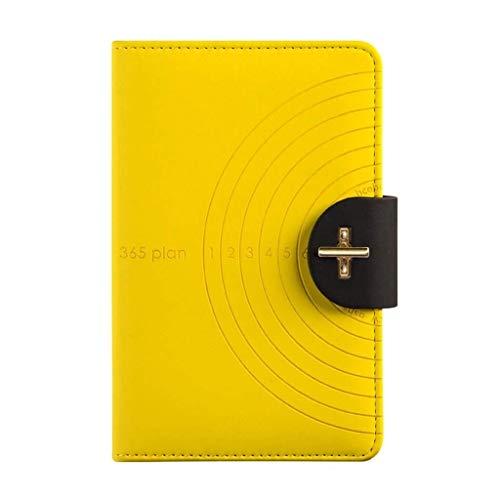 aedouqhr Bloc de Notas Cuaderno multifunción Manual Creativo Diario de administración del Tiempo del Estudiante Bloc de Notas Bloc de Notas de papelería (Color: Amarillo)
