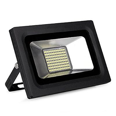 Univivi LED Flood Lights, 100W Super Bright Outdoor LED Floodlight,8600LM, Daylight White (5500-6500K), Waterproof LED Security Lights, Spotlights