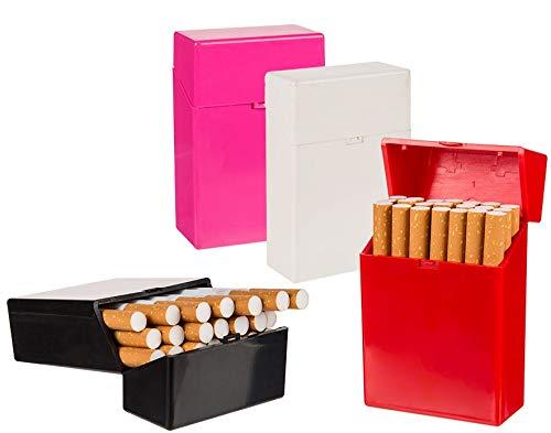 marion10020 4 Stück Kunststoff-Zigarettenetui Zigarettendose Zigarettenbox aufklappbarer Deckel