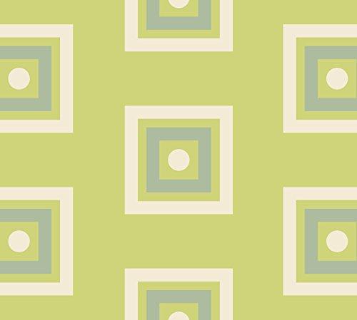 Moderne GMM Tapete Modern living - Little Square grün angepasst an Schöner Wohnen Trendfarbe Farn - Höhe 3m Breite 46,5cm