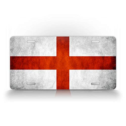 SignsAndTagsOnline England St. George Cross License Plate AC Milan Cross of St. Ambrose Auto Tag