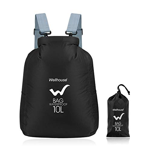 Irfora Waterproof Backpack - 10L Ultralight Waterproof Dry Sack Outdoor Sports Gym Bag Backpack for Camping Hiking Traveling-Style-2
