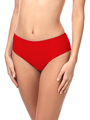 Merry Style Damen Bikini Slip 18 (Rot (4186), 40)