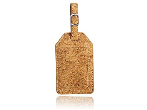 Cork Luggage Tag with Strap Bag Tag Badge Card Holder