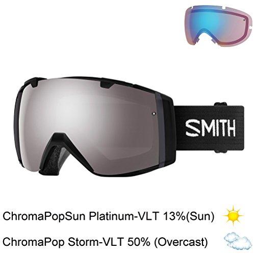 Smith Optics I/O Goggle Black Frame/Chromapop Everyday Red Mirror/Chromapop Storm Rose F One Size