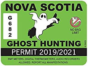 EW Designs Nova Scotia Ghost Hunting Permit Sticker Decal Vinyl Canada Paranormal Hunter ns Bumper Sticker Vinyl Sticker Car Truck Decal 5