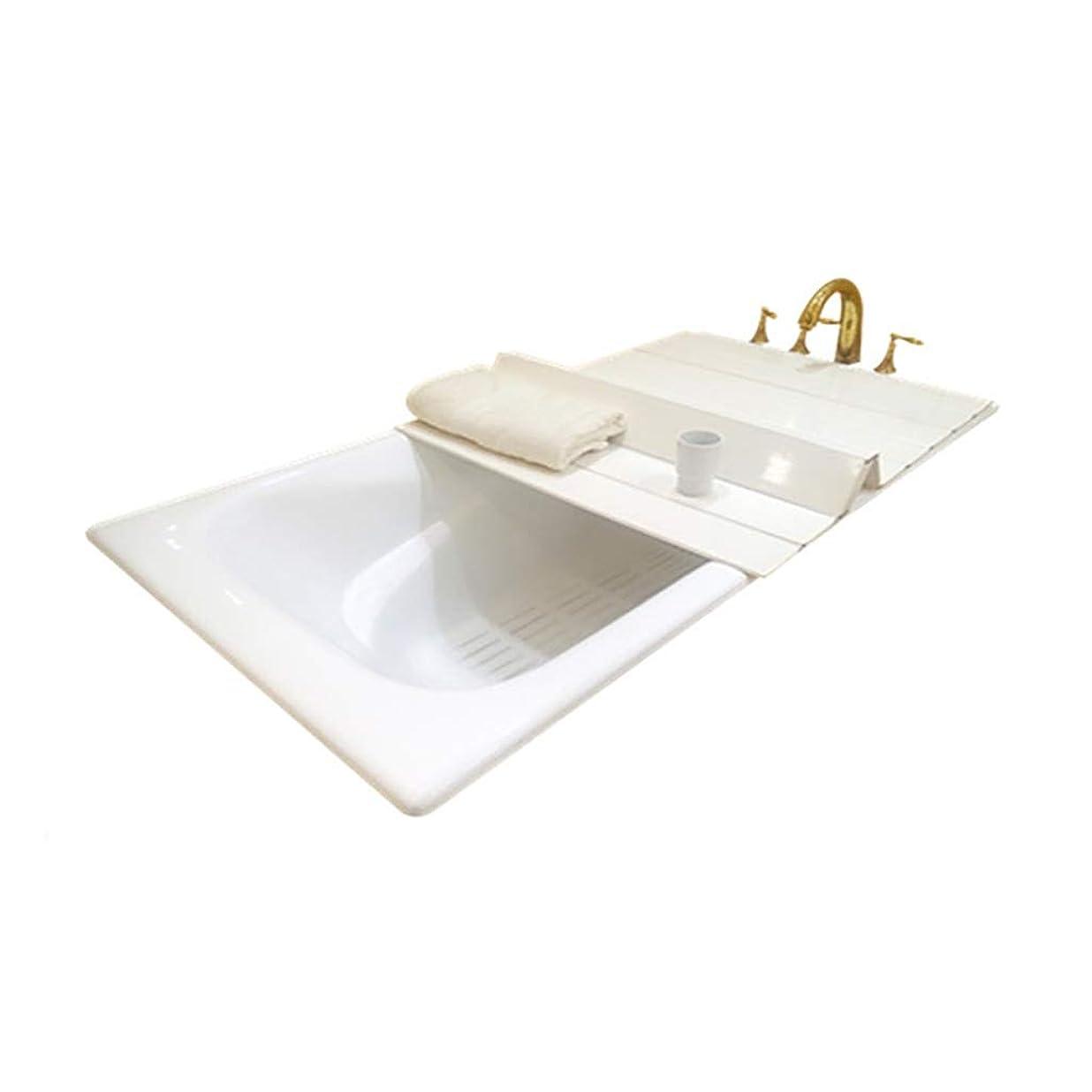 予備同意する温かいお風呂の入り江 75センチメートルの幅と絶縁バスルーム、環境保護PVC、穿孔バスタブ、バスカバー、ラックを折りたたみ (Color : 160cm*75cm*0.6cm)