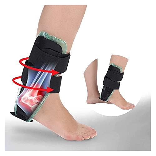 Soporte de estabilizador rígido de la férula de tobillo ajustable, X cm Gel de gel de aire Remitador de estribo para hombres y mujeres para reducir la hinchazón del tobillo y la inflamación, l