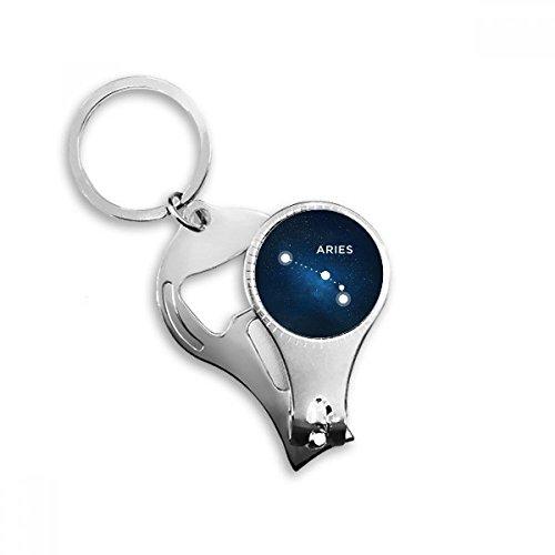 Ram sterrenbeeld dierenriem teken sleutelhanger ring multifunctionele nagel Clippers fles opener cadeau
