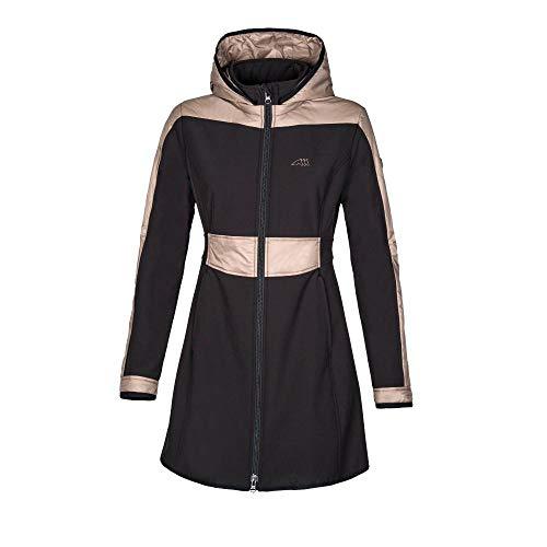 Equiline Softshellmantel Dorina Jacke schwarz beige Softshelljacke, Größe:S