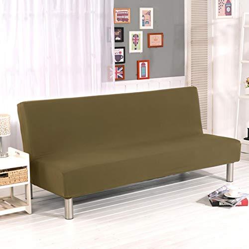 Funda de Spandex para sofá Cama elástica sin apoyabrazos Funda de sofá Ajustada para Sala de Estar Fundas Suaves Fundas elásticas para sofá Color 16, S (160-185CM)