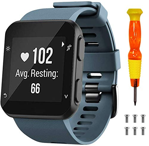 NotoCity Bracelet Garmin Forerunner 35 Smartwatch en Silicone avec vises et Un Tournevis, pour Garmin Forerunner 35 (Pas Compatible de Forerunner 235) Montre