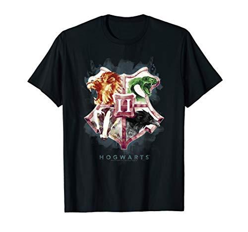 Harry Potter Hogwarts Crest Watercolor T-Shirt