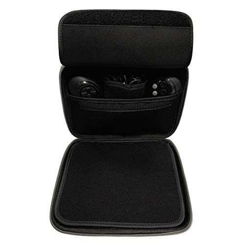 Carrying Case for Sega Genesis Mini 2019 and Accessories - 9 x 3.5 x 7.8 Inches, Black with Grey Trim