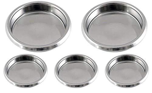 Gaz N Pow3r Lot de 5 filtres de vidange en Acier Inoxydable pour Machines à Expresso commerciales 58 mm