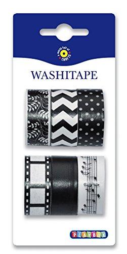 Playbox 2471135Washi Tape, schwarz/weiß