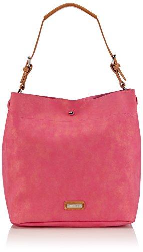 Bulaggi Damen Special Synthetic Suede hobo Shopper, Pink (Fuchsia), 32x35x15 cm