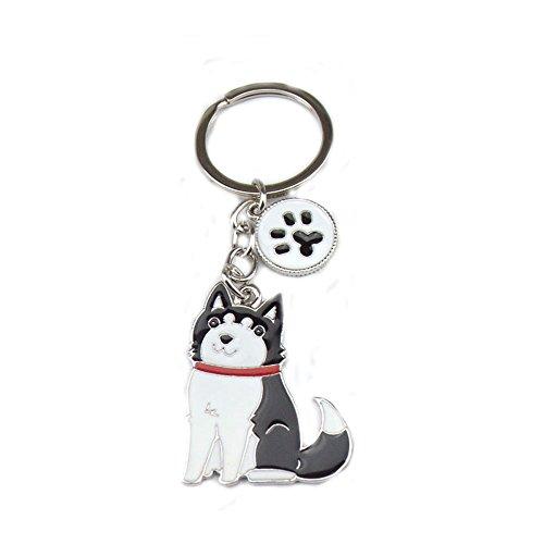 Zoonpark®-Hunde-Schlüsselanhänger, süßer kleiner Hunde-Schlüsselring, aus Metall