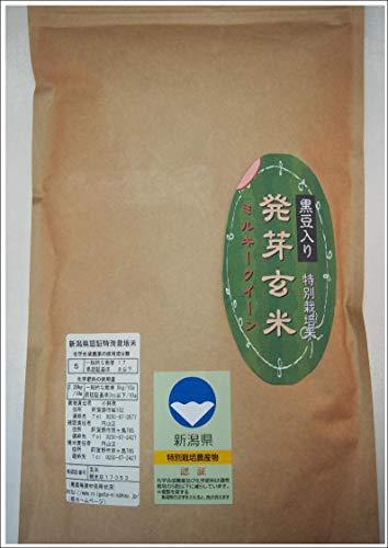こばやし農園「発芽玄米」(黒豆入り)ミルキークイーン 令和2年産 (4kg(1kg*4))
