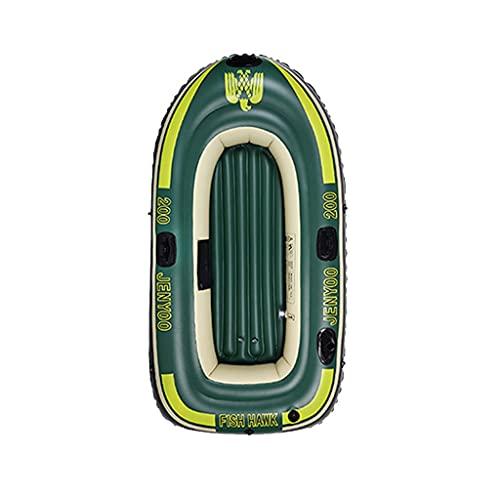 ZXQZ Kayak para 2-4 Personas, Bote Inflable con Paleta de Cuerda de Bomba, Barco Pontón para Adultos, Pesca, Bote, Kayak, PC 1 (Color : Style1, Size : 198cm)