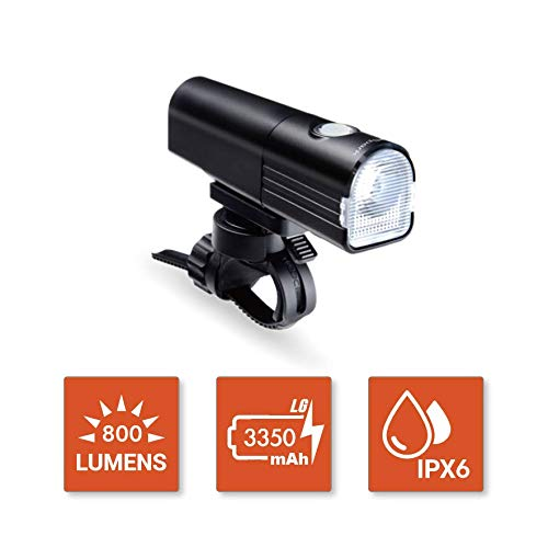 BikeSpark Ultra Bright Front Light F3800 lm Super Bright LED Bike Headlight  USB Rechargeable LG 3350mAh  Water Resistant IPX6  Fast Installation and Light Projection Angle Adjustable