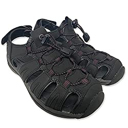 top 10 khombu river sandals Kombu Sandals Women's Ashley Active Sandals (Black, 7)