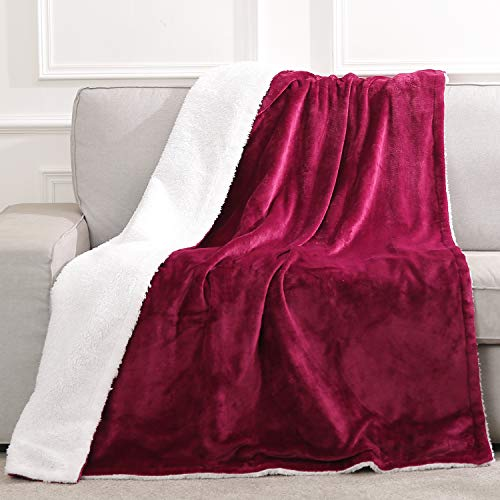 MaxKare Throw Flannel Fast Heating Electric Blanket with 6 Levels, Auto Off and Safety Technology Body Warm for Home, Office, Bed, Sofa and Machine-Washable 130x180cm Red