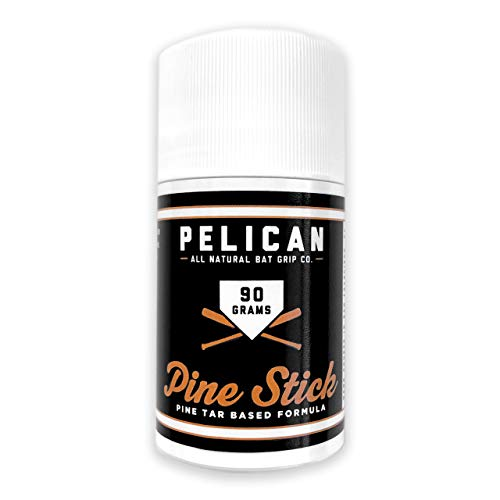 Pine Tar Baseball Stick Pelican Bat Wax Tar XL for Baseball or Softball Bat Enhanced Grip - 90 Gram