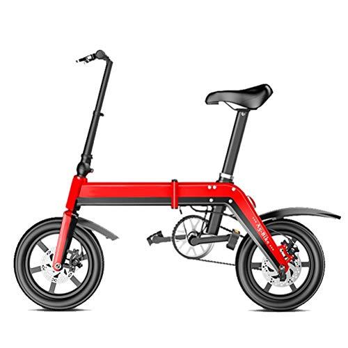 ZGYQGOO Bicicleta eléctrica Plegable de aleación de Aluminio de 350 vatios Bicicleta...