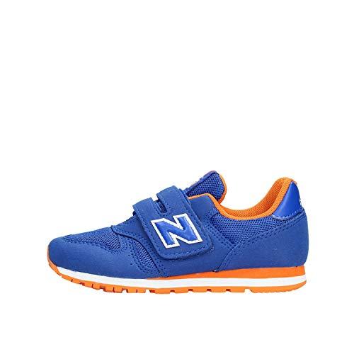 New Balance Unisex-Kinder 373 Sneaker, Blau (Team Royal/Varsity Orange BO Black), 32 EU