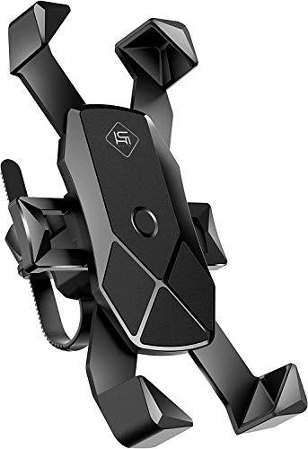 Ichiha 【アルミニウム合金製】スマホホルダー 自転車 バイク スマホホルダー 自転車用スマホホルダー 自転車スマホホルダー 脱落防止 GPSナビ 固定用 防水 携帯ホルダー 3.5-6.5インチ に適用iphone7 8 X Samsung Sony LG android 多機種対応 360度回転 脱着簡単 片手操作 自由調節 優れた耐久性 強力な保護 (アルミニウム合金製-M8s)